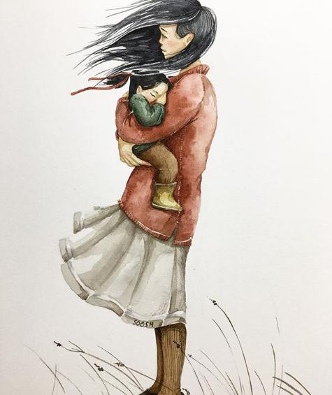 Mẹ và con gái: bộ tranh chạm đến những tình cảm ngọt ngào và bình dị nhất! - Ảnh 3.