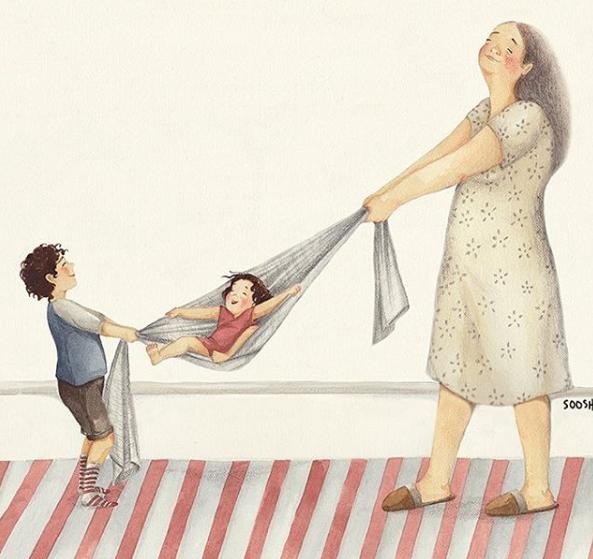 Mẹ và con gái: bộ tranh chạm đến những tình cảm ngọt ngào và bình dị nhất! - Ảnh 4.