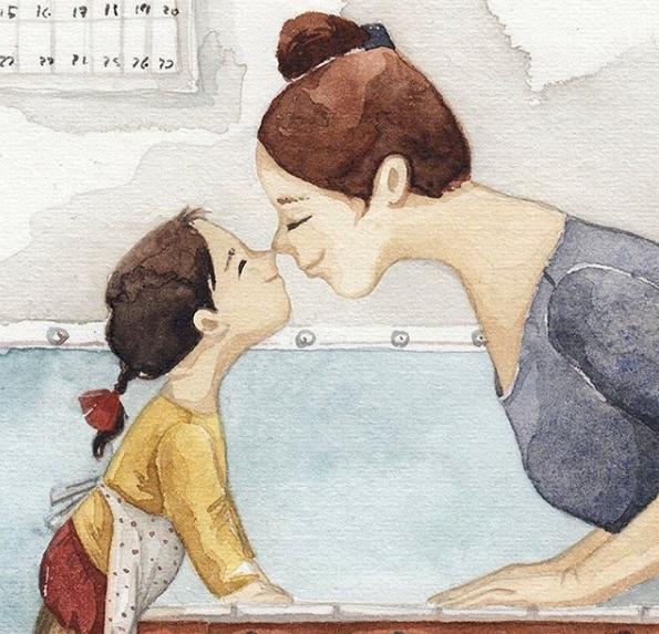 Mẹ và con gái: bộ tranh chạm đến những tình cảm ngọt ngào và bình dị nhất! - Ảnh 8.