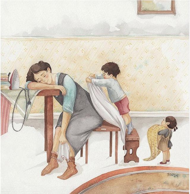 Mẹ và con gái: bộ tranh chạm đến những tình cảm ngọt ngào và bình dị nhất! - Ảnh 9.