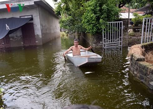"""Vỡ đê Bối ở Hà Nam: Người dân Đinh Xá """"chìm nổi"""" trong dòng nước lũ - Ảnh 2."""