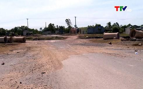 Nhiều dự án ở Thanh Hóa chậm công đoạn giải phóng mặt bằng - Ảnh 1.