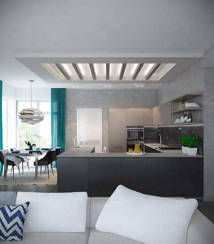 Căn hộ 2 phòng ngủ được xử lý màu sắc khéo léo - Ảnh 1.
