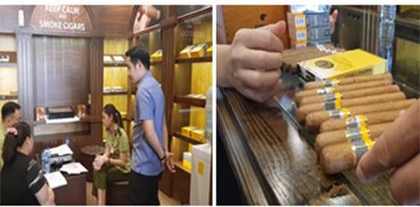 (HOT) Kiểm tra 5 cửa hàng bán xì gà ở Hà Nội, thu giữ cả đống hàng dởm  - Ảnh 1.