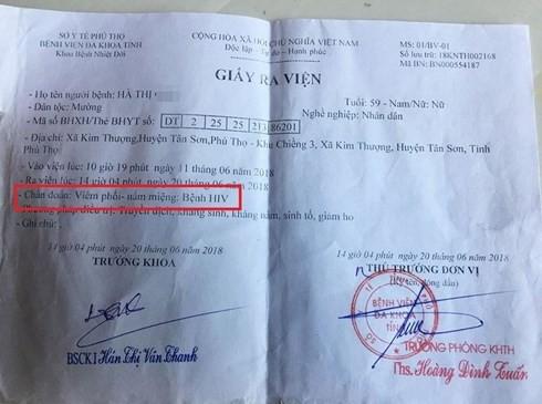 Nghi vấn bác sĩ dùng chung kim tiêm làm lây HIV ở Phú Thọ - Ảnh 1.