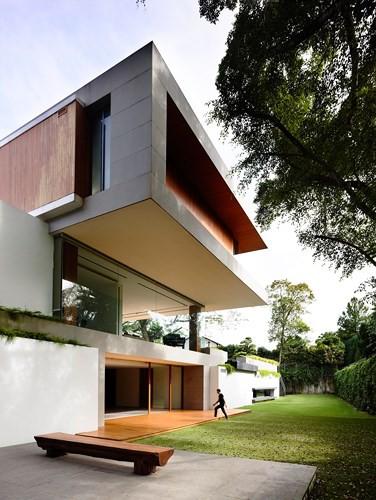 Biệt thự trang trí bằng gỗ ấn tượng - Ảnh 7.
