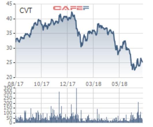 Cổ phiếu CVT giảm sâu, Vietinbank Securities tranh thủ mua vào để trở thành cổ đông lớn - Ảnh 2.