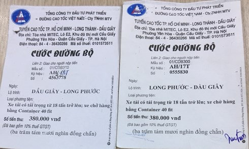 Xuất hiện vé BOT giả trên tuyến cao tốc Long Thành – Dầu Giây  - Ảnh 1.