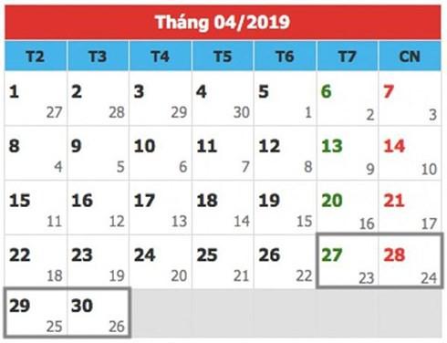 Chính thức có lịch nghỉ các ngày lễ, tết năm 2019 - Ảnh 1.