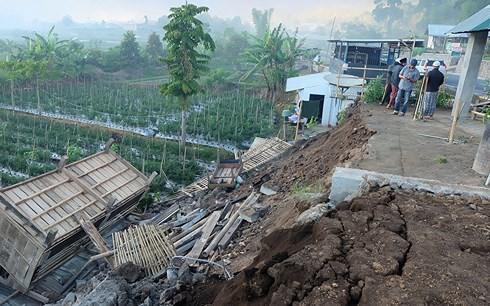 82 người thiệt mạng trong trận động đất 7 độ richter ở Indonesia - Ảnh 1.