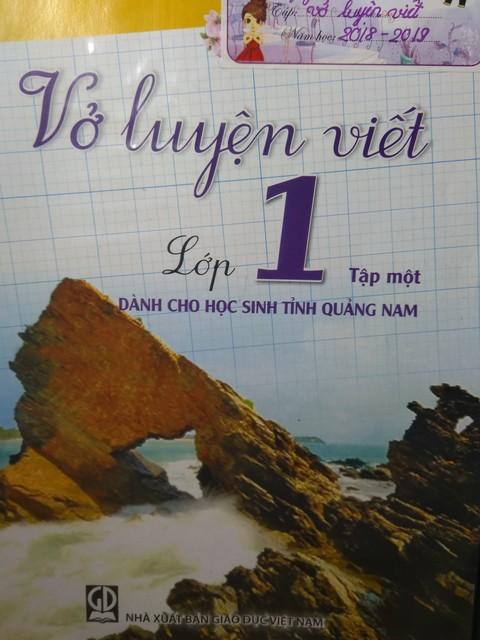 Xôn xao về Vở luyện viết dành cho học sinh tỉnh Quảng Nam - Ảnh 2.