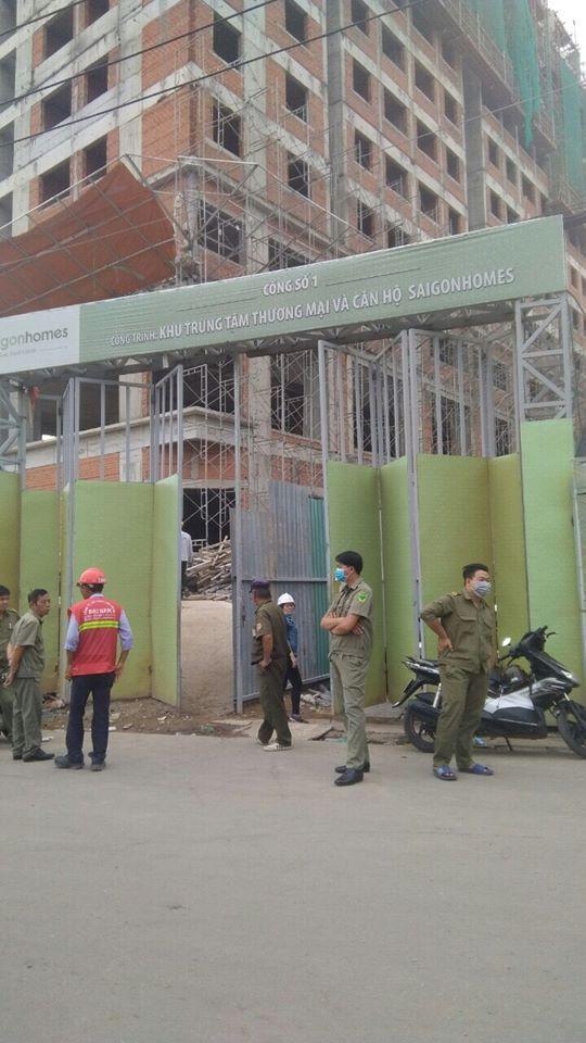 Rơi từ tầng 10 công trình Saigon Homes, 2 công nhân tử vong thương tâm - Ảnh 1.