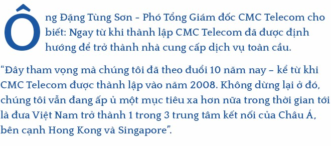 Phó Tổng Giám đốc CMC Telecom Đặng Tùng Sơn:  Trở thành nhà cung cấp dịch vụ ICT toàn cầu là tham vọng mà chúng tôi đã theo đuổi 10 năm nay - Ảnh 1.