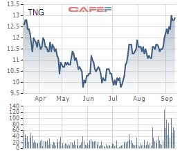 Cổ phiếu cất cánh, TNG báo lãi ròng 8 tháng đầu năm 118 tỷ đồng, thực hiện 93% kế hoạch - Ảnh 1.