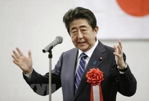 Thủ tướng Nhật Bản Shinzo Abe được bầu lại làm Chủ tịch LDP  - Ảnh 1.