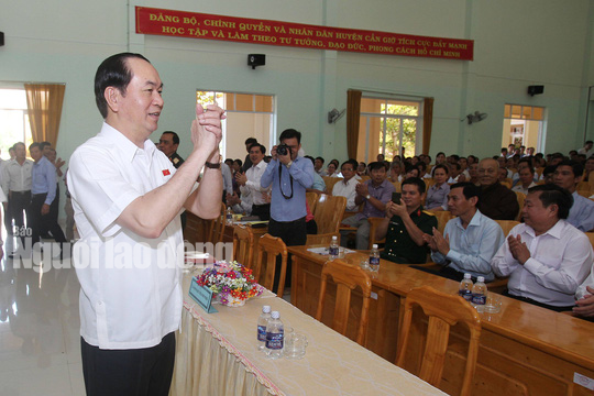 Những bức ảnh quý về Chủ tịch nước Trần Đại Quang - Ảnh 15.