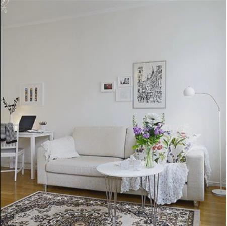 Nàng độc thân gây sốt với căn hộ nhỏ 32m2 đẹp mê ly - Ảnh 3.