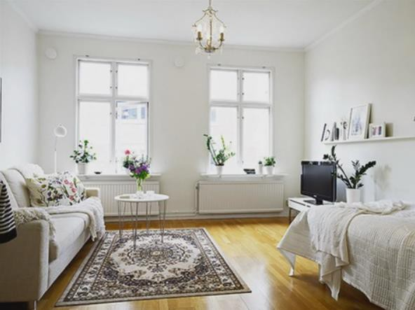 Nàng độc thân gây sốt với căn hộ nhỏ 32m2 đẹp mê ly - Ảnh 4.