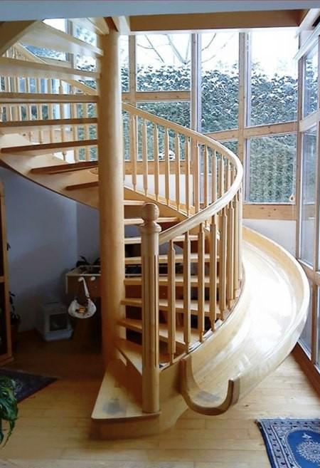 Tròn mắt với những mẫu cầu thang gỗ cực kỳ sáng tạo và độc đáo - Ảnh 12.
