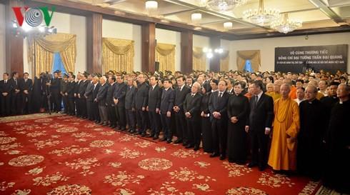 Trực tiếp: Đưa linh cữu Chủ tịch nước Trần Đại Quang về quê nhà - Ảnh 40.