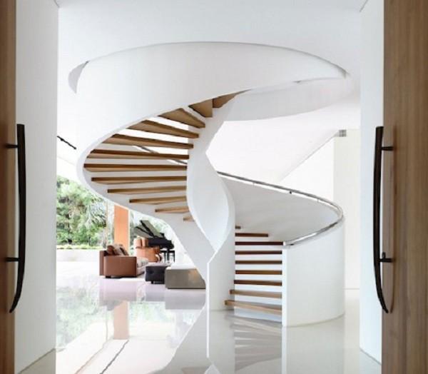 Tròn mắt với những mẫu cầu thang gỗ cực kỳ sáng tạo và độc đáo - Ảnh 7.