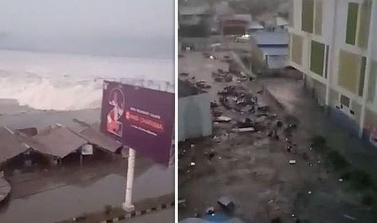 Động đất mạnh, sóng thần ập vào Indonesia - Ảnh 1.