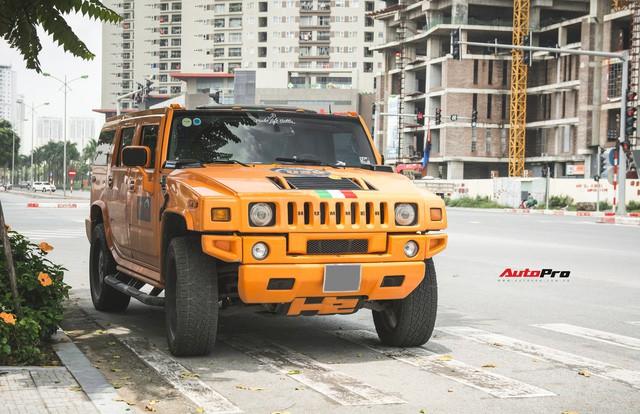 Hummer H2 màu cam độc nhất Việt Nam - Xe khủng cho dân chơi cá tính - Ảnh 1.