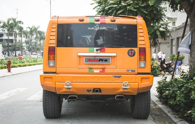 Hummer H2 màu cam độc nhất Việt Nam - Xe khủng cho dân chơi cá tính - Ảnh 12.
