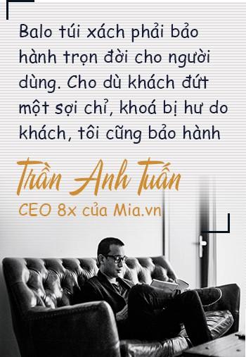 Chân dung CEO 8x của Mia.vn: Thời sinh viên đã kiếm trăm triệu/tháng từ bán balo, từng gặp khó khi nhà cung ứng chủ chốt rút toàn bộ hàng hóa và yêu cầu trả công nợ ngày giáp Tết - Ảnh 3.