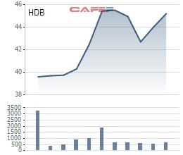 Nửa tháng lên sàn, cổ phiếu HDBank tăng vọt 37% và sắp đuổi kịp VPBank - Ảnh 1.