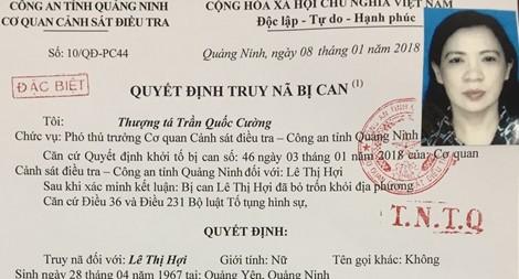 Quyết định truy nã Lê Thị Hợi.