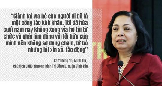 Nữ chủ tịch phường hứa từ chức nếu vỉa hè không thoáng lên tiếng - Ảnh 1.