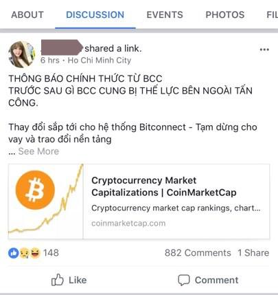 Đồng tiền đa cấp Bitconnect sụp đổ: Nhà đầu tư Việt Nam kêu trời vì mắc kẹt, nguy cơ mất trắng toàn bộ tài sản - Ảnh 2.