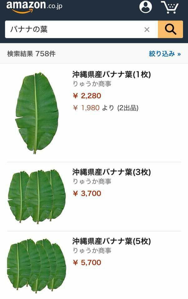 Lá chuối tươi đăng bán trên Amazon gần 500 nghìn 1 lá, mua 5 lá giảm giá còn 1 triệu 2 - Ảnh 1.