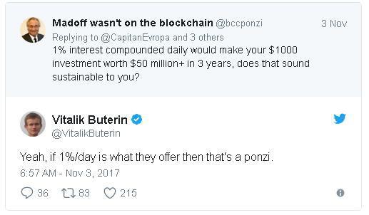 Đồng sáng lập Ethereum cảnh báo rằng đây là mô hình Ponzi lừa đảo.