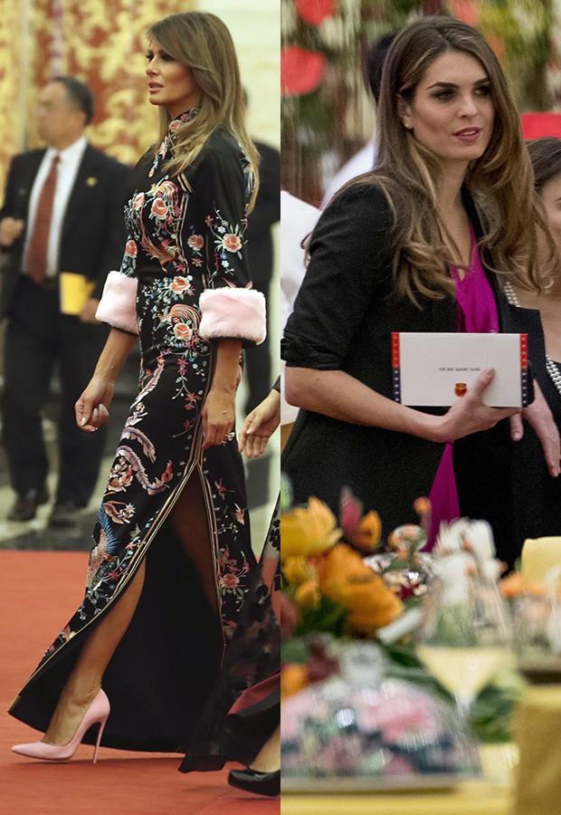 Cùng phục vụ trong Nhà Trắng, lại cùng có xuất thân người mẫu, bà Melania Trump và Hope thường xuyên được đem ra so sánh với nhau vể khoản sành điệu và hợp mốt.