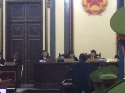 Ông Trầm Bê tại phiên tòa xét xử