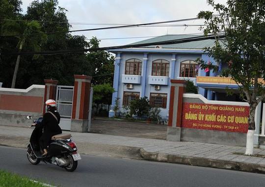 Quảng Nam: Kỷ luật phó bí thư Đảng ủy khối các cơ quan - Ảnh 1.