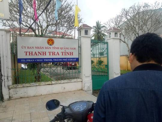 Phát hiện phó chánh Thanh tra tỉnh Quảng Nam nằm gục phía sau trụ sở - Ảnh 1.
