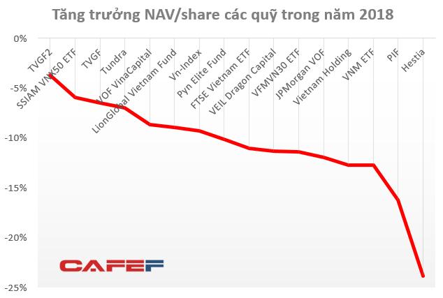 Không chỉ nhà đầu tư nhỏ lẻ, hàng loạt quỹ đầu tư trên TTCK Việt Nam cũng thua lỗ vượt xa Vn-Index trong năm 2018 - Ảnh 1.