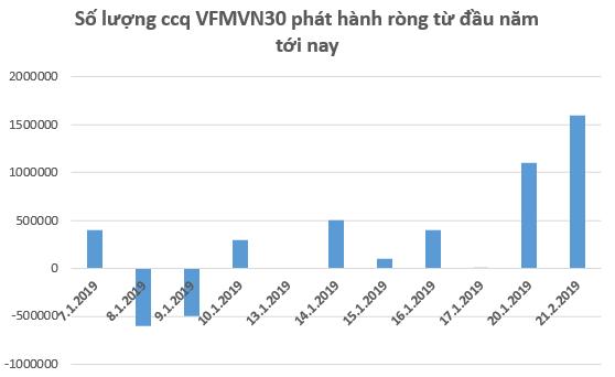 Dòng vốn đổ mạnh vào VFMVN30 ETF trước thềm review danh mục tháng 1/2019 - Ảnh 1.
