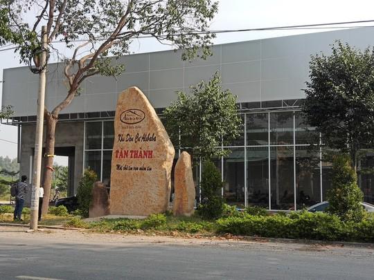 Đình chỉ công trình xây dựng có bảng ghi Khu dân cư Alibaba Tân Thành - Ảnh 1.