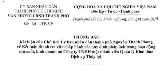 TP HCM: Lãnh đạo sở nông nghiệp nhận tiền hỗ trợ của Công ty Thủy Lợi - Ảnh 1.