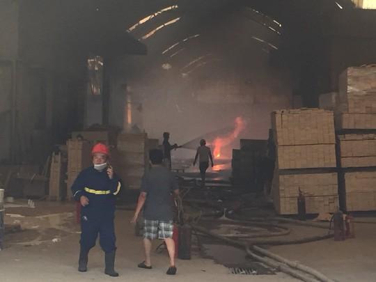 Lửa bao trùm công ty gỗ ở Bình Dương, công nhân chạy tán loạn - Ảnh 2.