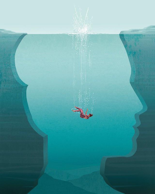 Những bức ảnh minh họa về cuộc sống khiến bạn gật gù: Đúng là nhiều khi phải 'cố tỏ ra là mình ổn, nhưng sâu bên trong nước mắt là biển rộng - Ảnh 1.