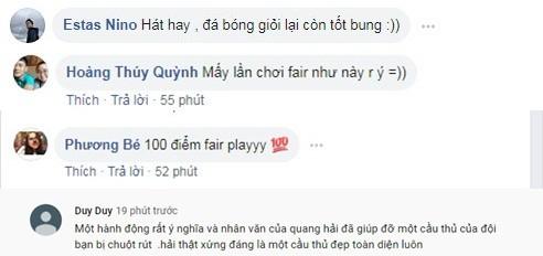 Hết ghi siêu phẩm, Quang Hải lại khiến mọi người tấm tắc khen ngợi nhờ hành động đẹp với đội bạn - Ảnh 2.