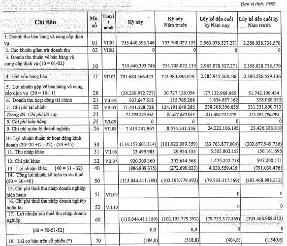 Nhiệt điện Cẩm Phả (NCP) báo lỗ 115 tỷ đồng trong quý 3, nâng tổng lỗ lũy kế lên trên 1.100 tỷ đồng - Ảnh 1.