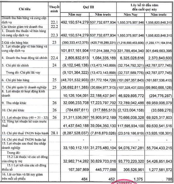Vinasun tiếp đà hồi phục, lãi ròng 9 tháng tăng gần gấp đôi lên 94 tỷ đồng - Ảnh 1.