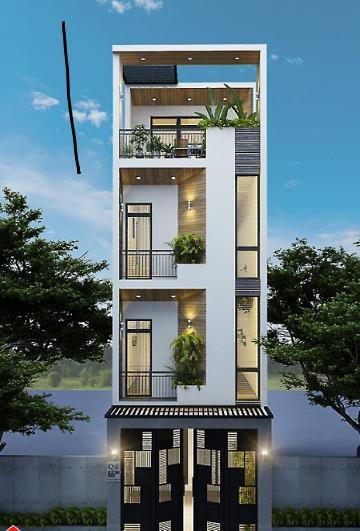 Mẫu nhà phố 4 tầng vẻ đẹp hiện đại gây sốt - Ảnh 1.