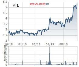 PTL tăng 35% từ đầu tháng, Phó Giám đốc Petroland (PTL) đăng ký bán hơn 15 triệu cổ phiếu - Ảnh 1.